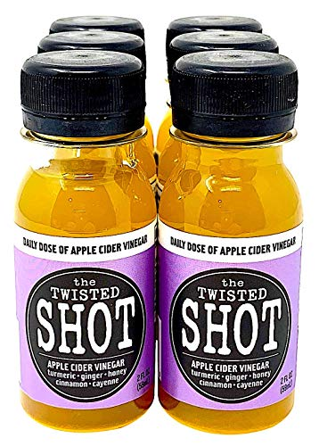 The Twisted Shot - Organic Apple Cider Vinegar Shots with Turmeric, Ginger, Cinnamon, Honey & Cayenne - 6-Pack of 2oz Shots ()