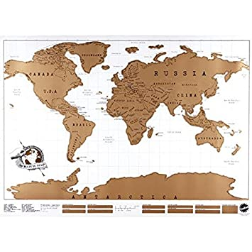 Amazon scratch off world map scratch the world travel map scratch off world map scratch the world travel map traveling nomad map travel the world van gumiabroncs Image collections