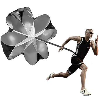 Explosive Kraft Fallschirmwiderstand Fu/ßball Agilit/ät Laufen Power Chute /& Fitness Fu/ßball Ausr/üstung mit verstellbarem Gurt f/ür Boxen JTShop Trainingsschirm f/ür Geschwindigkeit