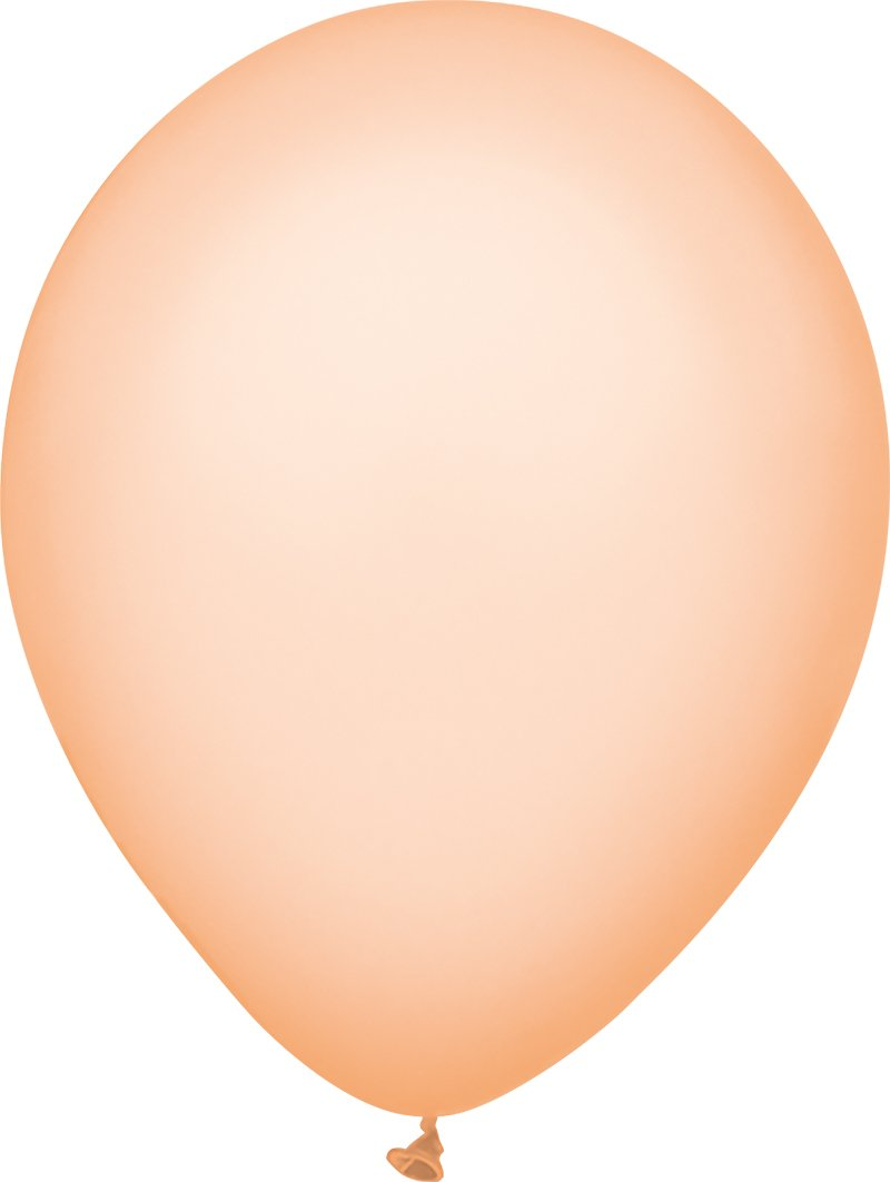 PartyMate 71984 5 Round Solid Color Latex Balloons 50-Count Bright Orange
