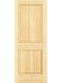 2 Panel Door, Interior Door Slab, Solid Pine, Square Top, Double