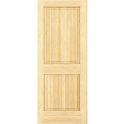 Amazon 2 Panel Door Interior Door Slab Solid Pine Square Top