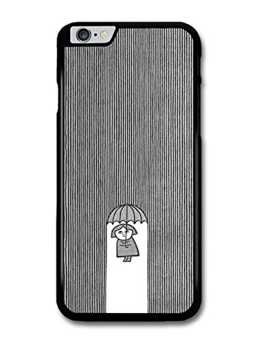 Cool Minimalist Lady with Umbrella in the Illustration Rain case for iPhone 6 Plus 6S Plus