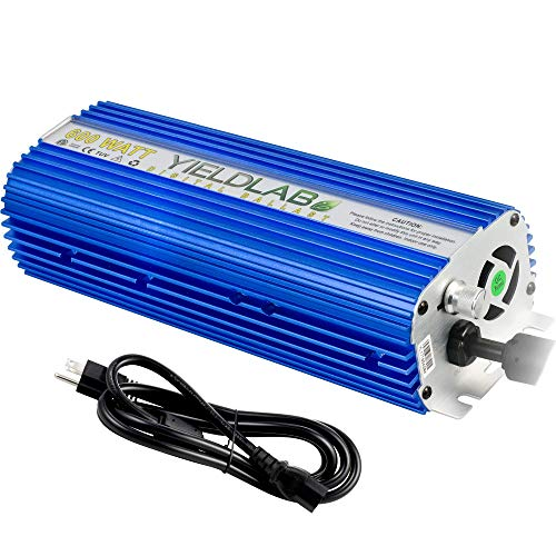 - Yield Lab Horticulture 600w Slim Line Dimmable Digital Ballast for HPS MH Grow Light