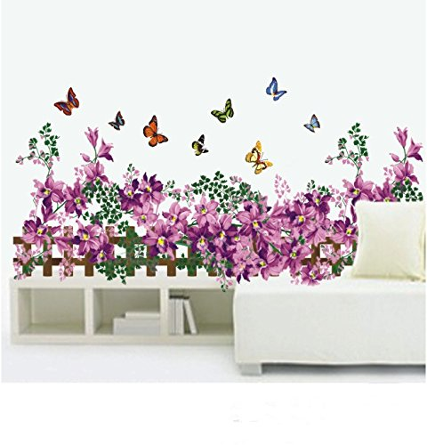 Beautiful small garden wall stickers Wall Decal Removable butterfly Mural Vinyl Art house decor living room bedroom decorative tool