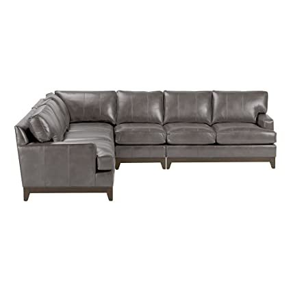 Amazon.com: Ethan Allen Arcata Four Piece Leather Sectional ...