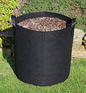 White Fabric Root Pots Smart Plant Grow Bags  5L Litre