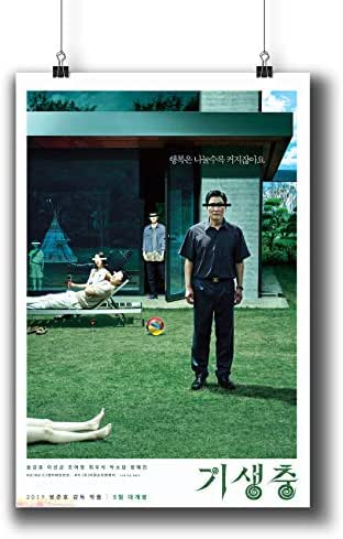 Pentagonwork Parasite 기생충 Korean Movie Poster 11x17 A3 Prints w/Stickers 2019 Film, Song Kang-ho Lee Sun-kyun, Wall Art Decor Birthday Christmas 1231-001