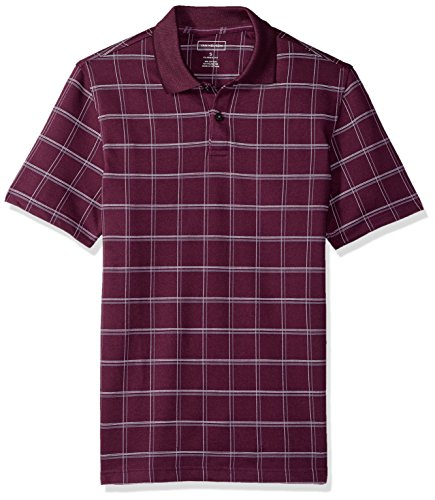Bloom Window Windows (Van Heusen Men's Printed Windowpane Short Sleeve Polo, Winter Bloom, Small)
