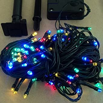 Solar Battery Operated Led Garden Lights Multi Coloured