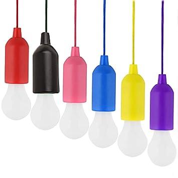 Ritte Tragbare Led Lampe 6 Stück Led Campinglampe Led Ziehleuchten Mit Zugschalter Batteriebetriebenaaa Dekoratives Licht Bright Camping Licht