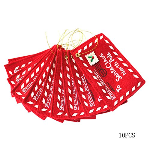 Jocestyle Santa Claus Gift Money Card Holders with Envelopes Christmas Ornament Decor Set of 10 Photo #4