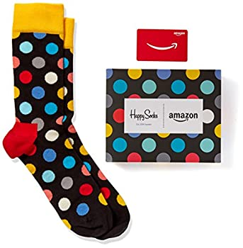 Amazon.com Gift Card With Happy Socks (One-size, Mens: 10-13) : Limited Edition 6