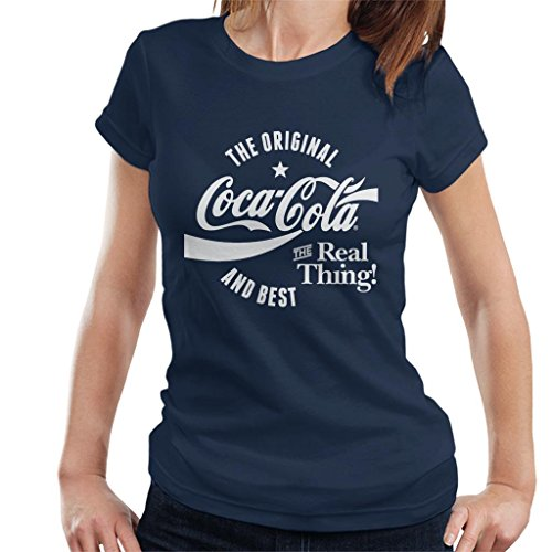 Best T White Women's shirt Cola And Coca Original Blu Text 1tcRqqFw