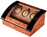 opening&closing Classic Watch Winders for 3+4 Watches for automatic Watch Winder Rotator Case Cover Storage C , brown