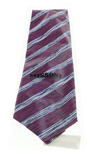Missoni U4491 Magenta//White Regimental 100/% Silk Tie for Mens