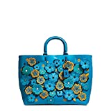 Coach 1941 Sac Rogue Open Lattice Tea rose Blue Pattern Floral Handbag Bag New
