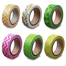LolliZ Washi Tape – Spring Garden Set with Six Rolls of Fun and Festive Colors