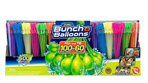 Zuru Bunch O Balloons Self-Sealing, Quick Fill Water Balloons (500 Pack) by Bunch O Balloons