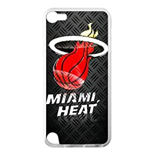 Miami Heat Team Logo Background Design for iTouch 5 TPU Case (Laser Technology)-by Allthingsbasketball