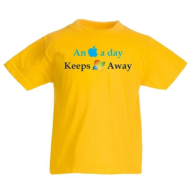 lepni.me Camiseta para Niño/Niña Una Manzana al Día - Dichos Graciosos,