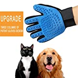Pet Grooming Glove for Dogs and Cats Hair Remover Brush Gloves Gentle and Efficient Fur Deshedding Mitt - Upgrade and Patent (1 Pack Right Hand-Upgrade)