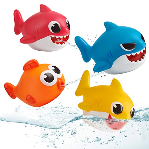 51Oqt2lkOhL - WowWee Pinkfong Baby Shark Bath Squirt Toy - 4 Pack