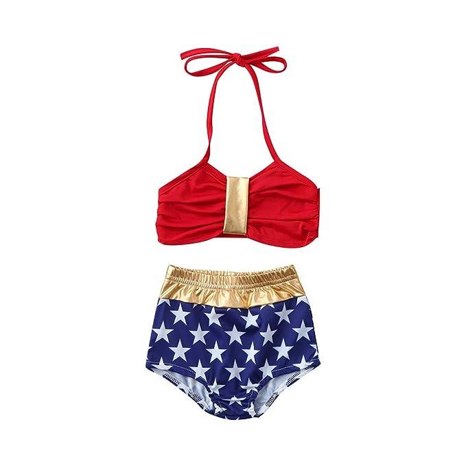 9e37b7108faaa FALAIDUO Baby Girl Swimwear 3-6 Months Kids one Piece Swimsuit Kids  Swimwear Girls Tankini Infant Kids Baby Girls Swimwear Star Straps Swimsuit  Bathing ...