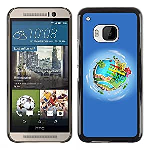 Plastic Shell Protective Case Cover || HTC One M9 || Amusement Park Water @XPTECH