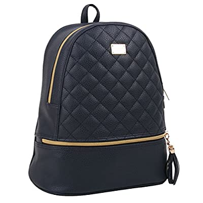 Copi Women's Simple Design Fashion Quilted Casual Backpack