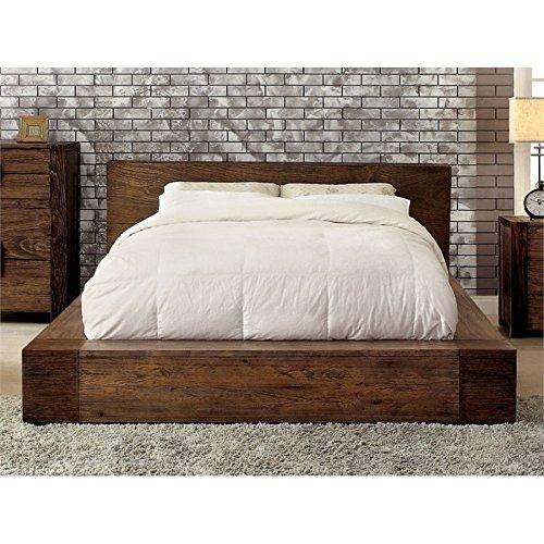 Furniture of America Elbert Queen Platform Bed in Rustic Nat
