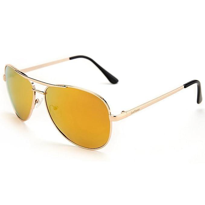 LotFancy Aviator Gafas de sol para hombres/mujeres con gafas para el sol caso, UV 400 protección: Amazon.es: Ropa y accesorios