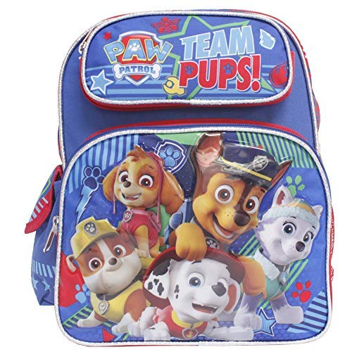 Nickelodean Paw Patrol 12' Small School Backpack-Team Pups! -