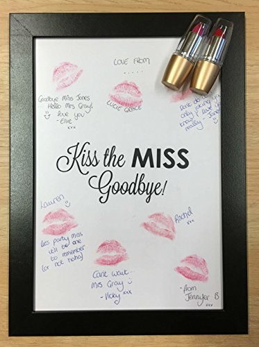 Fancy Pants Frame (Hen Party Kiss The Miss Goodbye Frame Lipstick Guestbook Keepsake Game Gift for Bride by Fancy Pants Store)