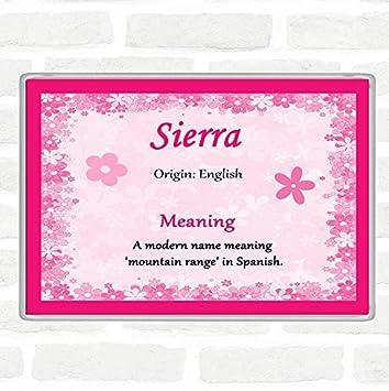 Imán para nevera con nombre de Sierra y significado Jumbo color ...