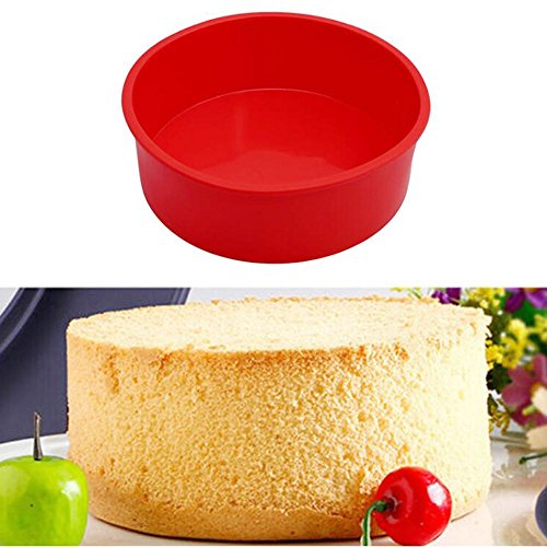 TFWADMX 6 Round Silicone Cake Mold Pan Pizza Pastry Bread Baking Tray Mould