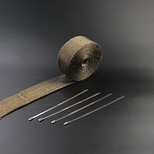 dngdom Protecció n de calor banda Basalto fibra cinta escape 10 m WH-JJL-0054-YL