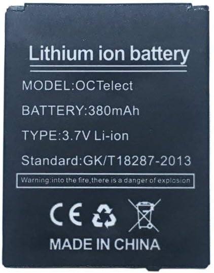 YUNIQUE Espagne ® 1 Piezas Batería de polímero de Litio 380mAh (3.7V) para Smart Watch Smartwatch DZ-09, DZ09, LQ-S1
