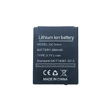 YUNIQUE Espagne® 1 Piezas Batería de polímero de Litio 380mAh (3.7V) para Smart Watch Smartwatch DZ-09, DZ09, LQ-S1