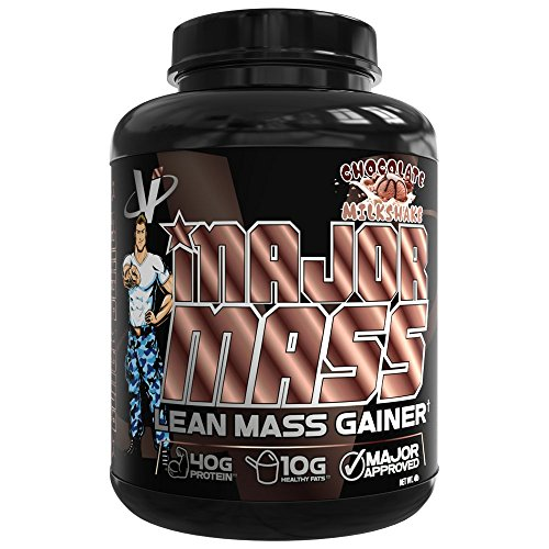VMI Sports, Major Mass Lean Mass Gainer, Chocolate Milkshake, 60 Scoops (4 lbs.), Protein Powder with Protein to Carbohydrates to Fats Ratio for Lean Muscle Mass & Weight Gaining, Pre- or Post-Workout ()