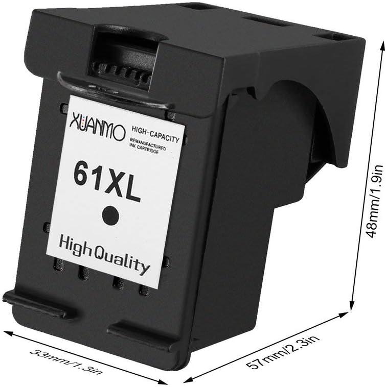 Jullynice Ink Cartridges Inkjet Cartridges Replacement for Hp 61 XL for Officejet 2620 4630 for Deskjet 1000 1010 for Envy 4500 Non-OEM