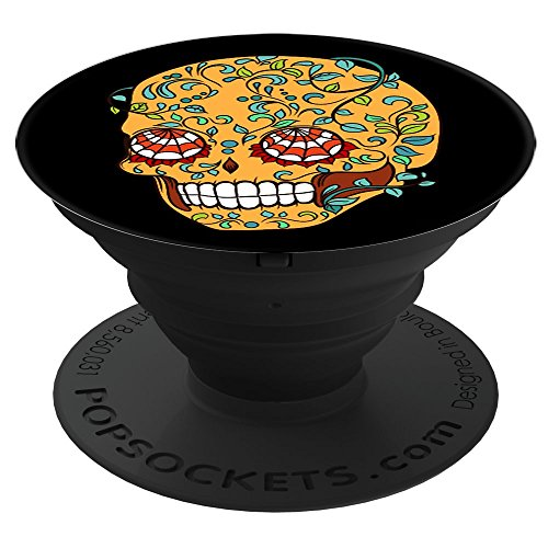 Sassy Southern Charm & Grace Dia de los Muertos | Spider Web Sugar Skull | Day of the Dead For Wireless Phone PopSockets Stand for Smartphones and Tablets (Spider Sassy)