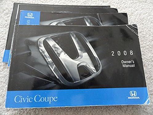 2008 honda civic coupe owners manual honda amazon com books rh amazon com owners manual honda civic hybrid 2008 honda civic 2008 owners manual pdf