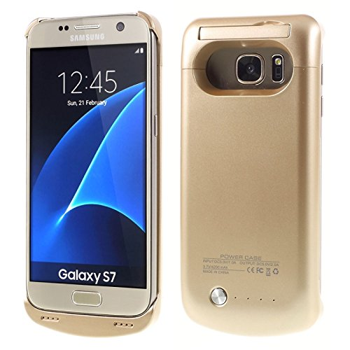best authentic c01ca 9febf Samsung Galaxy S7 Battery Case, 4500 mAh Charger Rechargeable Backup  Portable External Power Pack for Samsung Galaxy Galaxy S7 (Gold)