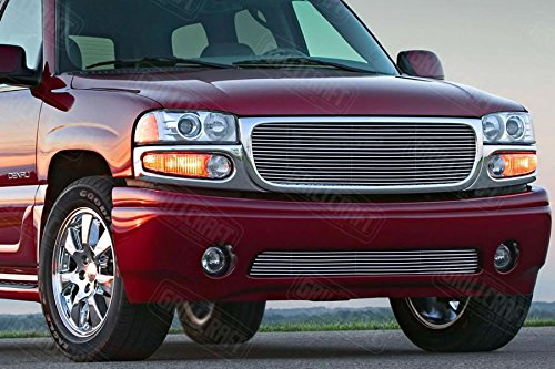 GrillCraft GMC2017-BAC BG Series Polished Aluminum Tow Hook 1pc Billet Grill Grille Insert for GMC Denali Sierra - Denali Grille Gmc Sierra Insert