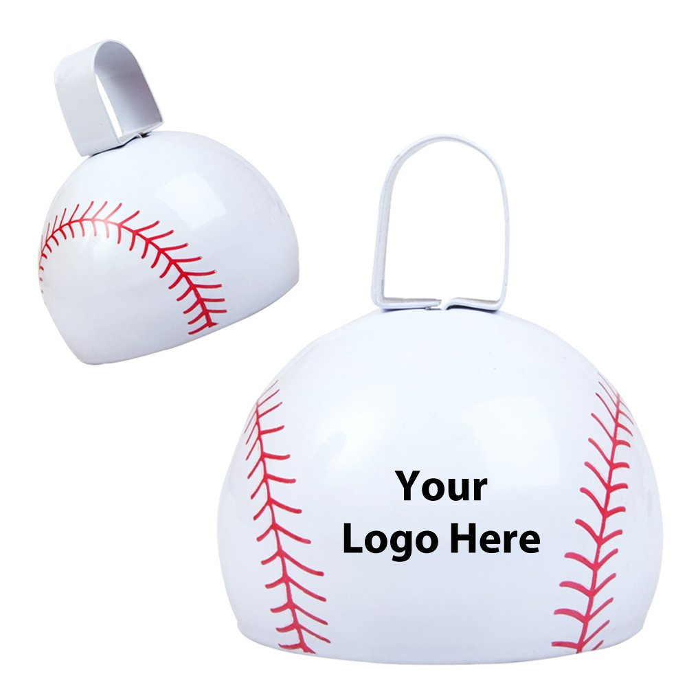 Baseball Cow Bell - 150 Quantity - $2.85 Each - PROMOTIONAL PRODUCT / BULK / BRANDED with YOUR LOGO / CUSTOMIZED