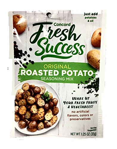 Concord Foods Roasted Potato Seasoning Mix (Pack of 4) 1.25 oz Packets
