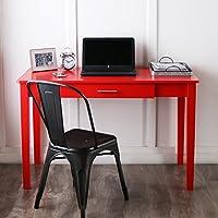 WE Furniture Wood Storage Computer Desk, Red