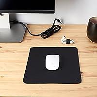 Mouse Pad Kit De Piel Negro + Organizadores Para Cables, Accesorios Para Escritorio Y Oficina, Regalo Para Novio, Regalo Para Hombre, Regalo Para Aniversario, Monograma Personalizado // MOUSE PAD JUMBO NEGRO