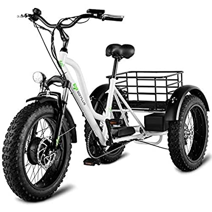 """324639a8e2d Image Unavailable. Image not available for. Color: Goplus Electric Trike  20"""" Fat Tire 500W Electric Tricycle for Adults 48V ..."""